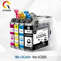 Conjunto de cartucho de tinta compatível para O Irmão LC225 1 LC227 LC223 DCP-J4120DW MFC-J480DW MFC-J680DW MFC-J880DW MFC-J562DW com chip