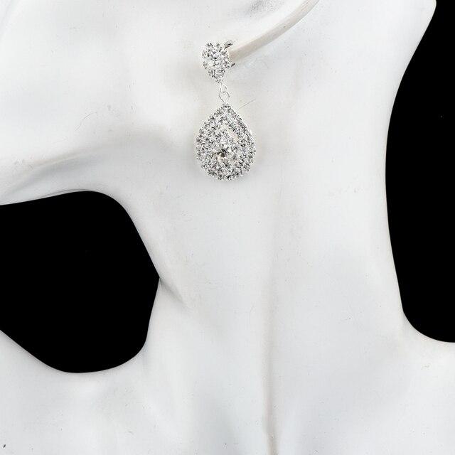 Серьги подвески chicvie с искусственными кристаллами и камнями