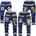 Розничные дети брюки человек - паук дизайнерские джинсы фирменные джинсы ребенка детский для 1 - 6 лет детей штаны детей