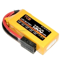 11.1V 3S 1300mAh 35C LiPO Battery TRX plug for RC Racing Buggy Car Truck Speed Boat Model Airplane FPV Drone