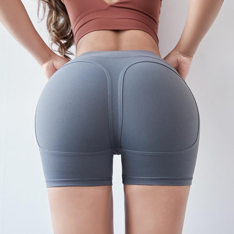 2019 Summer Women Peach Hip Shorts Lady Sexy Club Dance Pink Shorts Sportswear Shinny High Waisted for Women Jean Shorts