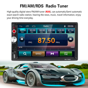 Image 3 - Podofo 2 din Universal Car Radio GPS Navigation 7 Touch Screen MP5 Player RDS Radio Car Stereo Support Android IOS Mirror Link