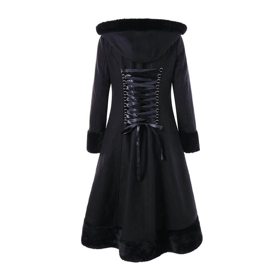 hooded women coat winter faux fur warm outwear lace up mid- long-coat black double breasted plus size 2XL wool long coat women 2016 new fashion fur collar women coat sexy ladies wool sweater double breasted thick skirt cotton dress 3 colors size s 2xl page 4 page 5 page 1 page 3