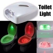 Jiguoor New arrive LED Human Motion Activated PIR Light Sensor Toilet led light Bowl Bathroom LED Night activated motion Light