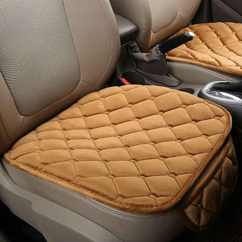 Теплый чехол для сиденья автомобиля Подушка зимняя универсальная Передняя бархатная Удобная подушка для стула Volkswagen Toyota Polo CHEVROLET KIA BYD