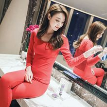 Autumn and winter women s lace thin section body thermal underwear casual and comfortable seamless body