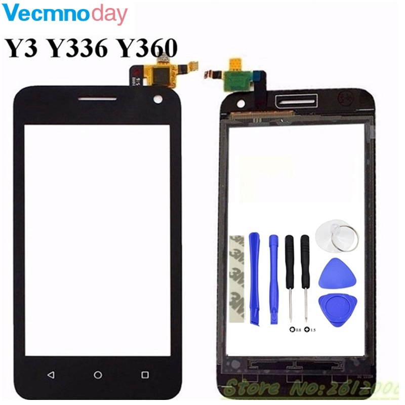 Vecmnoday 4.0 inch High Quality White/Black Touch Screen Digitizer For Huawei Y336 Y3 Y336-U02 digitizer touch screen display