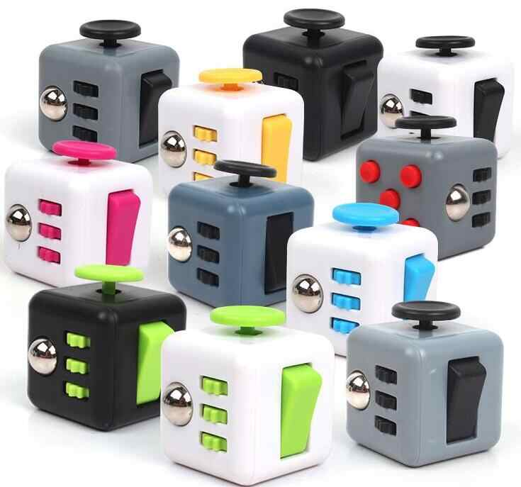 11 Colours Mini Magic Cube Desk FingerToy Keychain Squeeze Fun Stress Reliever Puzzle Magic Cube