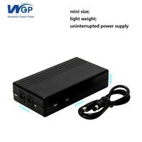 Light weight small size router UPS uninterrupted power supply lithium battery powered 5v 2a mini ups for DSL modem and camera