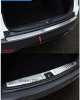 2 PCS 2014 2017 FOR HONDA HR V HRV VEZEL REAR BUMPER PROTECTOR STEP PANEL BOOT COVER SILL PLATE TRUNK TRIM Accessories