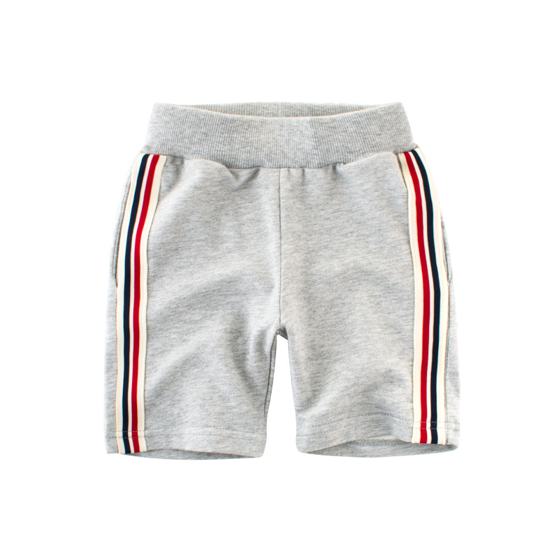 2018 Cotton Summer Baby Casual Shorts Boys Short Pants Kids Toddler Boy Clothes Children Clothes Side Striped Trousers 2-9Y knot side striped shorts
