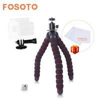 Fosoto Grande Polvo Gorillapod Telefone Câmera Digital Mini Tripé Flexível Aperto Com Bola de Cabeça Para Gopro Câmera DSLR Nikon