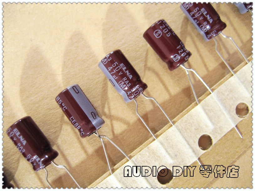 10PCS/50PCS ELNA Brown RA3 Series 47uF 50V 50V47uf Audio Electrolytic Capacitor