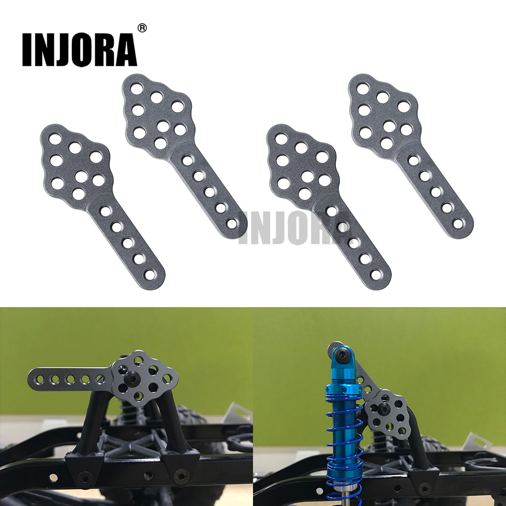 INJORA 4Pcs RC Car Shock Absorber Mount Adjust Height Angle Stand for RC Crawler Car Axial SCX10 90046 D90 D110 adjustable ruler measure rc car height