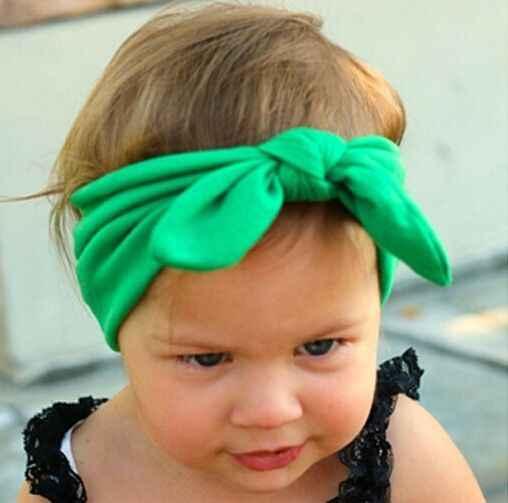 1 pz Carino Neonato Neonate Della Fascia Nastro Copricapo Capretti Del Bambino Fascia dei capelli Della Ragazza Bow Nodo Colorato Fascia rosso Giallo Verde blu