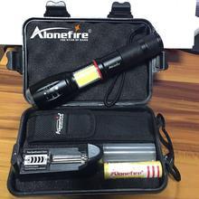 AloneFire G701 çok fonksiyonlu LED el feneri 5000 lümen CREE XML T6 el feneri gizli COB tasarım el feneri kuyruk süper mıknatıs tasarım