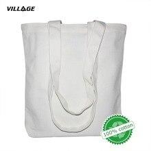 Купить с кэшбэком VILLGE High-Quality Women Men Handbags Canvas Tote bags Reusable Cotton grocery Shopping Bag Webshop Eco Foldable Shopping Cart