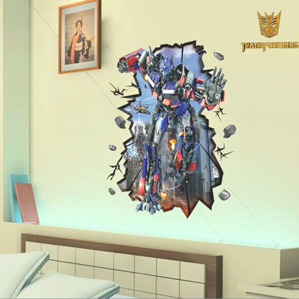 Wholesale New Transformers Kids Children Room Home Decor Window Stickers Decal