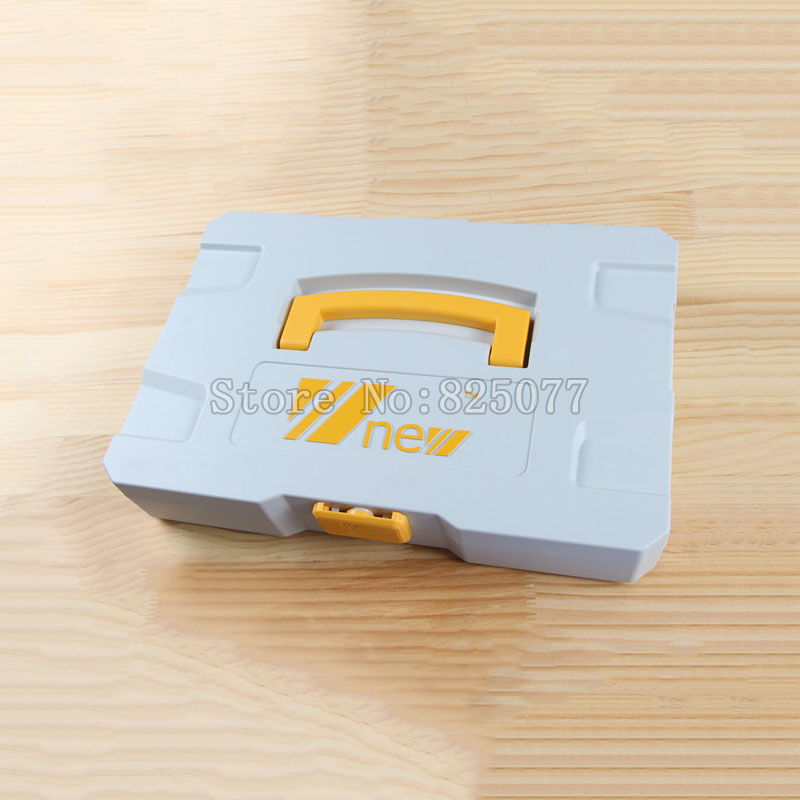 ФОТО  Multifunction DIY Plastic Toolbox Woodworking Hardware Storage KF1024