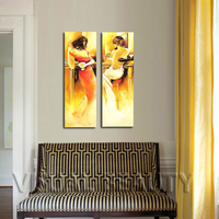 Beautiful Nude Sex Girls Painting Canvas Paintings 2 Panel Canvas Arts(Unframed)30x90cmx2pcs