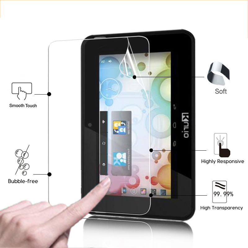 Premium Anti-Scratched HD lcd Glossy screen protector film For kurio 7S 7.0 tablet front ...