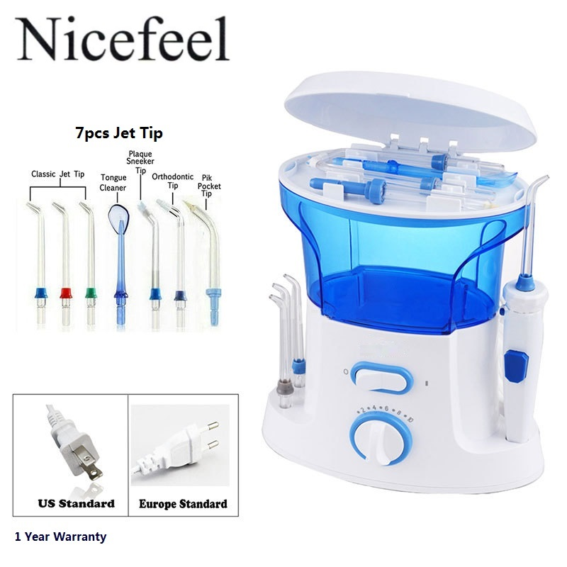 dental water flosser quality oral irrigator with 7pcs jet tip 600ml water tank for dental. Black Bedroom Furniture Sets. Home Design Ideas