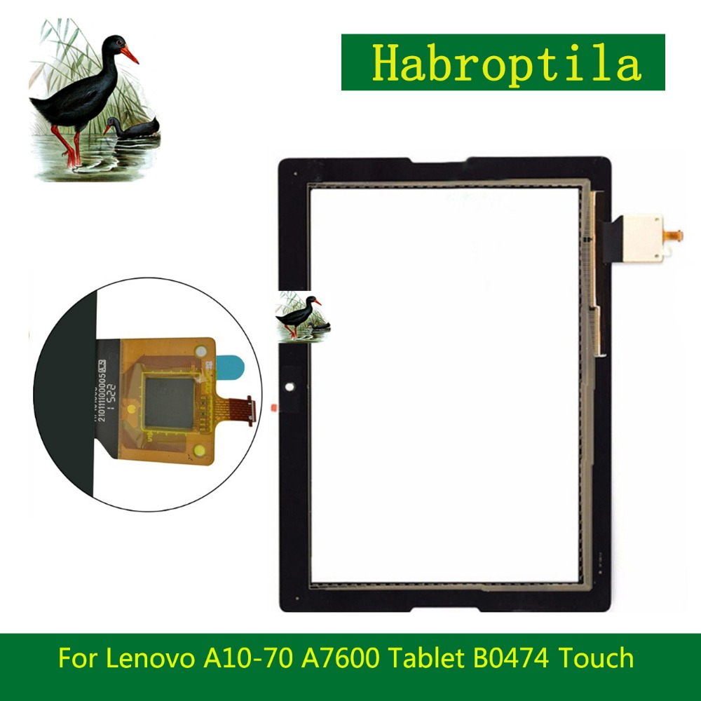 5Pcs/lot 10.1 For Lenovo A10-70 A7600 Tablet B0474 Touch Screen Tablet Digitizer Sensor Panel Front Glass Lens+Tracking Code