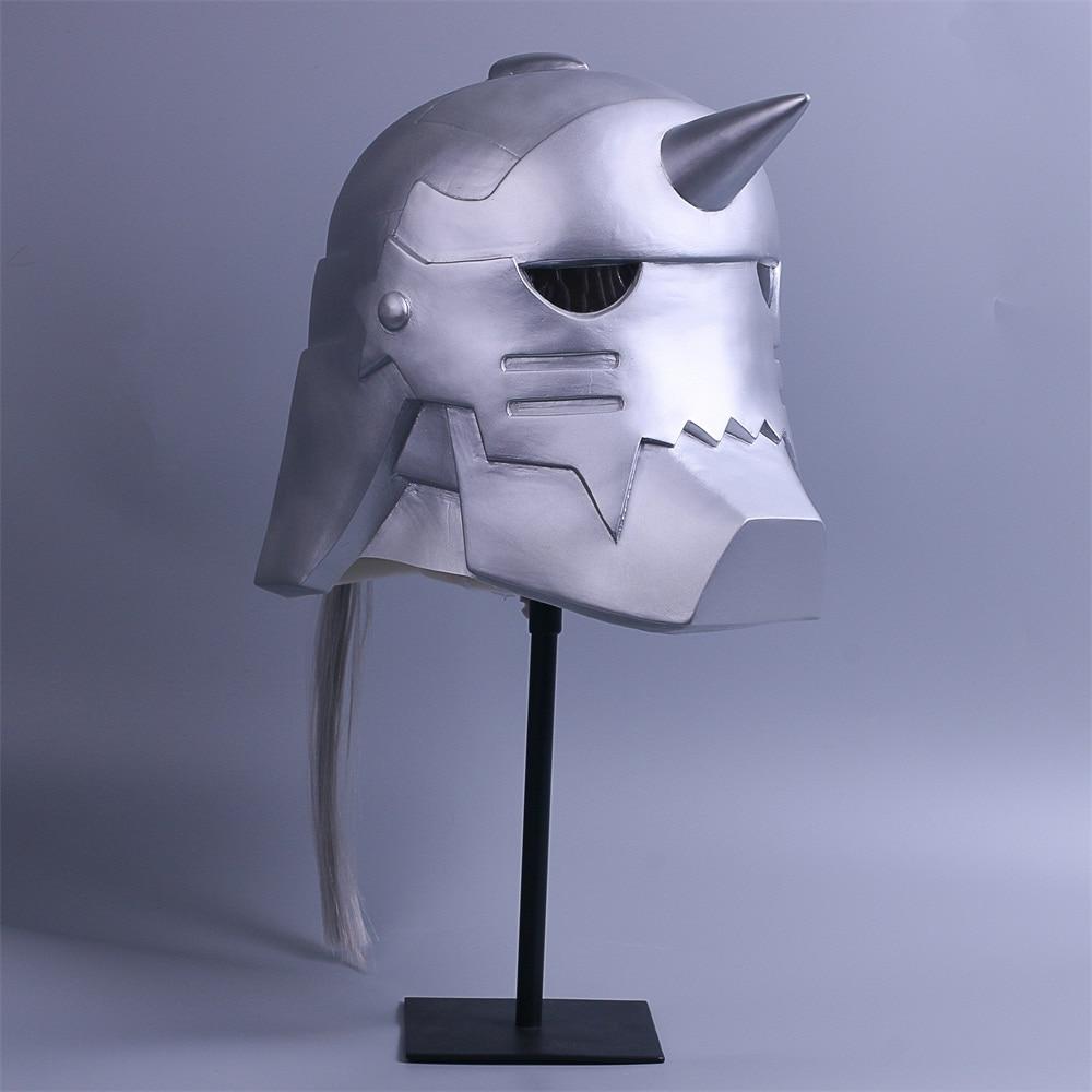 2017 Fullmetal Alchemist Mask Cosplay Alphonse Elric Helmet Halloween Mask PVC (4)
