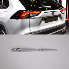 Car Accessories ABS Chrome Rear Window Wiper Arm Blade Cover Trim Overlay Nozzle Molding Garnis For Toyota RAV4 2019 Car-styling