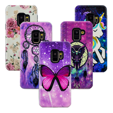 Luxury 3D Relief Cover For Samsung Galaxy S9 S 9 Case 2 in 1 TPU+PC Flower Animal for Plus S9+ Capa