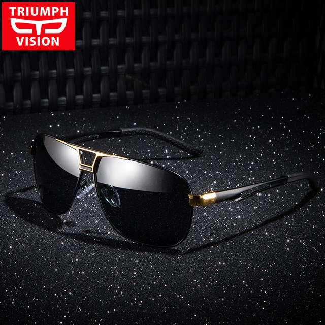 881657a6fa6 TRIUMPH VISION TAC Polarized Sunglasses Driving Anti Glare Lens Shades High  Quality Metal Shades Fashion Pilot