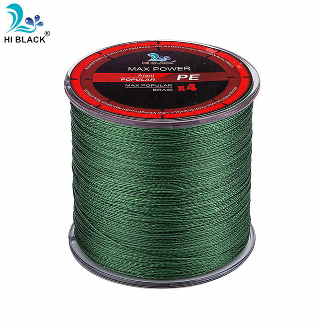 Free Shipping 4 Strands Japan Multifilament 100% PE Braided Fishing Line 8LB to 80LB Tough and strong 300M fishing line