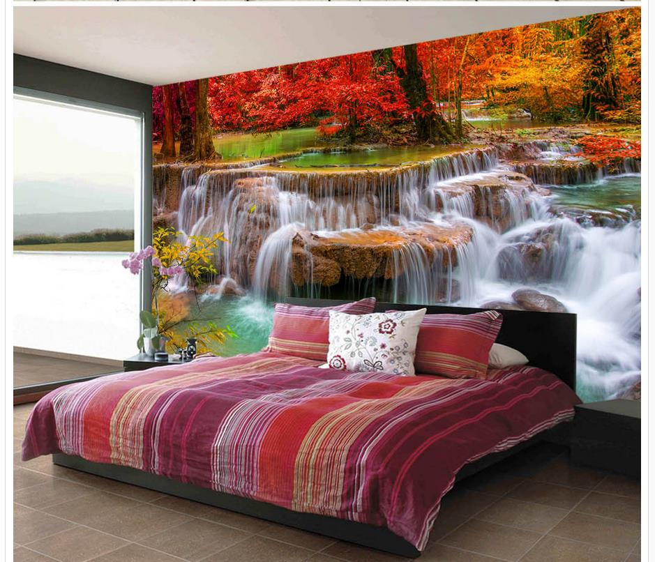 autumn aesthetic living modern fall wallpapers forest 3d waterfall any custom