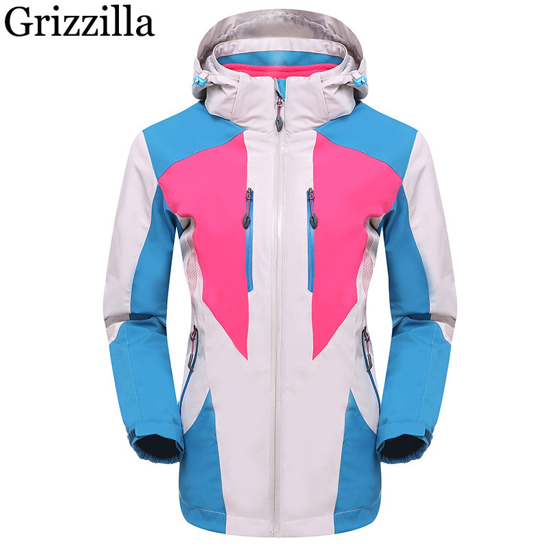 Grizzilla 2017 Winter Jacket Women Windproof Waterproof Ski Jackets Outdoor Sport Hiking Camping Snowboarding Clothing 3 in 1 outdoor jacket windproof waterproof coat women sport jackets hiking camping winter thermal fleece jacket ski clothing
