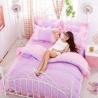 Home Textiles,cotton Polyester Black&white Plaid 4pcs bedding sets, bed linen, bed sheet + duvet cover +Pillowcase, Freeshipping