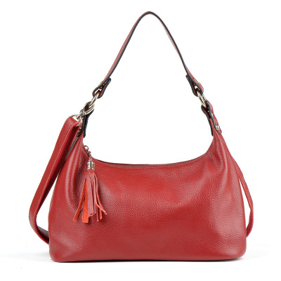 2018 novelty spring summer women genuine leather hobo lady elegant cowhide one shoulder bag female casual soft leather handbag 2018 novelty spring genuine leather one shoulder bag for women soft leather casual crossbody bag lady summer tassel handbag