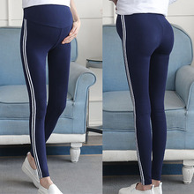 Женские леггинсы, штаны для беременных, Одежда для беременных, полосатые штаны, удобные Леггинсы для беременных