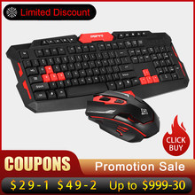 2.4 GHz Wireless Keyboard Gaming Keyboard Mouse Combo 19 Tombol Anti-Ghosting Adjustable DPI Mouse USB Receiver Adaptor Mouse mat(China)