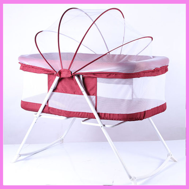 Portable Hanging Baby Crib Netting Newborn Baby Folding Bed Bassinet Convertible Baby Crib Bedding Sets Nursery Furniture 1pcs jollybaby brica portable folding travel bassinet baby bed baby crib bed on the go infant bed