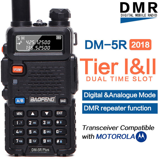 Walkie talkie digital baofeng tierii tierii tierii, dupla banda dupla, repetidor, dmr, DM 5R plus, vhf/uhf rádio dm5r plus,