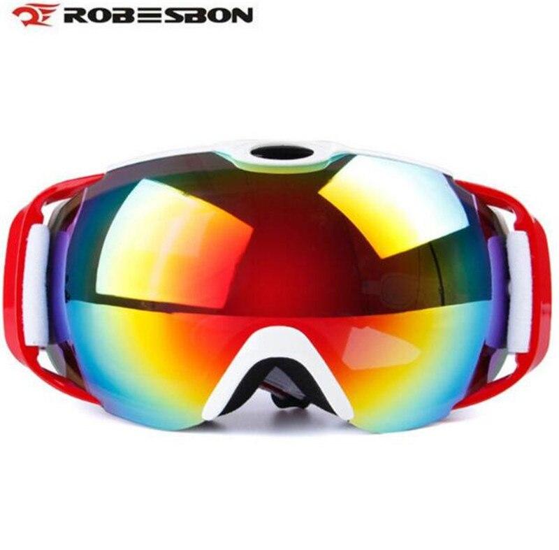 ROBESBON мотоцикл двойной линзы UV400 Анти-Туман Лыжные Сноуборд Очки зимние спортивные защитный Очки для лыжного спорта очки Очки