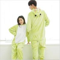 Free Shipping Hot Pajamas Animal Frog Style Cosplay Costume Unisex Adult Onesie Sleepwear