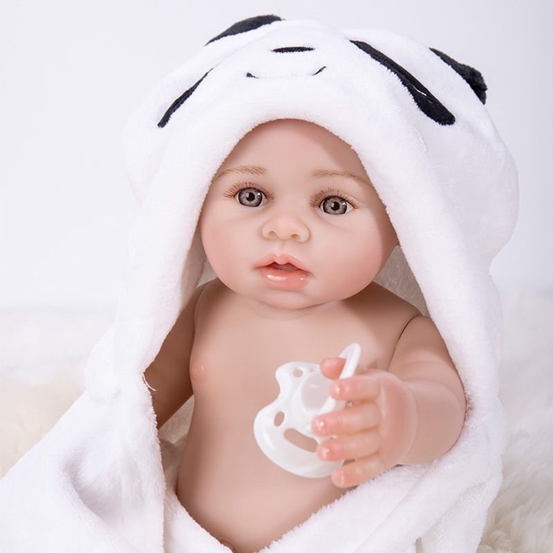 New 17 Inch 43cm Icy Doll Full Body Silicone Body Reborn Baby Girl Dolls Bebes Reborn Children Gifts Bonecas Juguetes Brinquedos in Dolls from Toys Hobbies