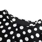 POKWAI moda de manga larga de seda camisas de las mujeres Tops de lujo de calidad de marca Patchwork leopardo imprimir blusa o cuello Undies - 3