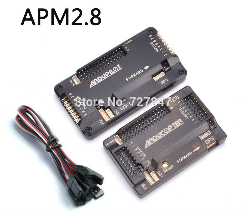 APM2.8 ArduPilot Mega APM APM2.8 Flight Controller Board with Case for RC Quadcopter Multicopter 3dr power module apm2 2 5 apm flight controller ardupilot mega apm2 6 f