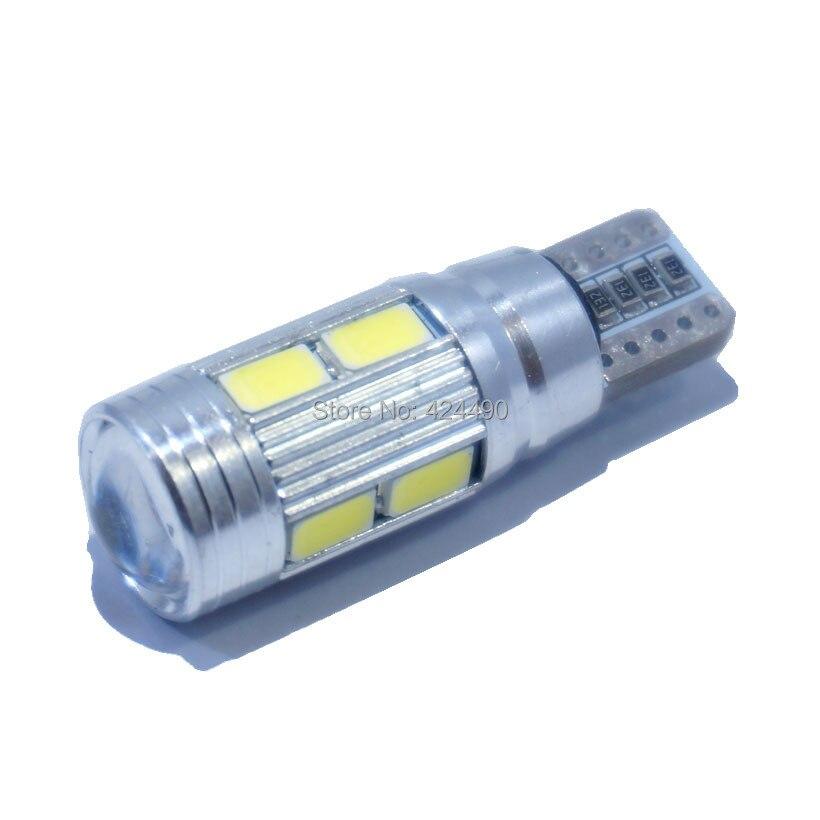 10pcs led t10 canbus t10 led SIGNAL BULB SMD5630 LENS FREE ERROR Auto Indicator 168 501 LED BULB lamp W5W canbus light t10 3w 144lm 6 x smd 5630 led error free canbus white light car lamp dc 12v 2 pcs