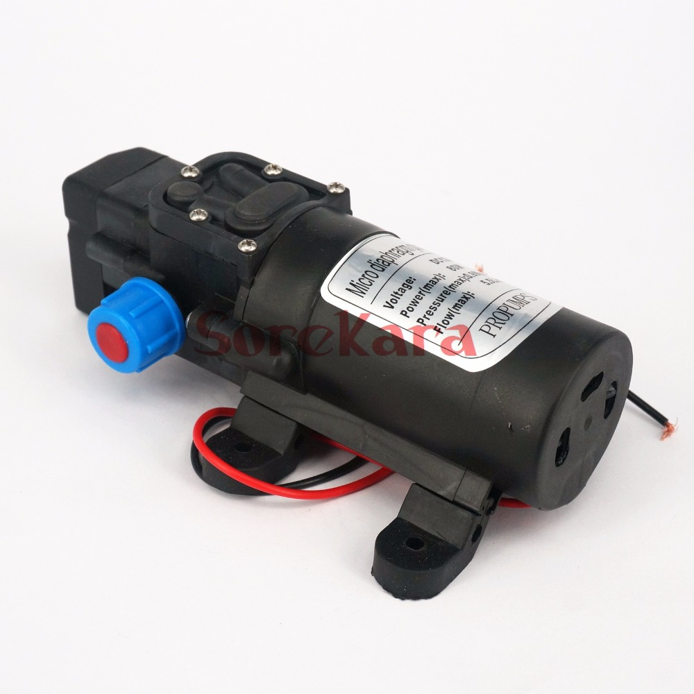 цена на Home Garden DC 24V 80W Diaphragm Water Pump Self-priming Booster Pump With Automatic Pressure Switch for watering