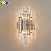 FUMAT Modern Brief Wall Lights Living Room Bedside Brief Wall Lamps Creative Art Stair Corridor LED Crystal Wall Lamp Sconce
