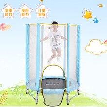 55 дюймов безопасный пружинный батут гимнастический Батут Отказов кровать с защитной сеткой