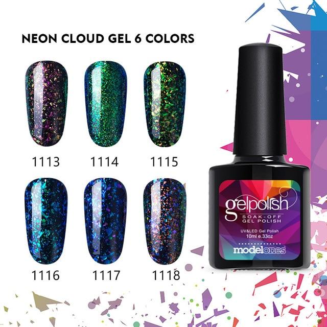 Modelones Nail Gel Polish Nail Art Galaxy Uv Nail Varnish Blue
